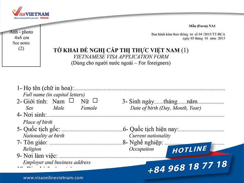 How to apply Vietnam Tourist Visa from Russia? - Вьетнам Туристическая виза