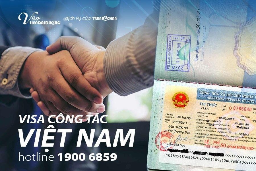 xin visa công tác Việt Nam